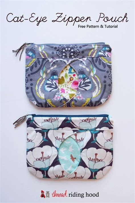 free pattern zippered bag sew a cat s eye zippered pouch a free sewing tutorial