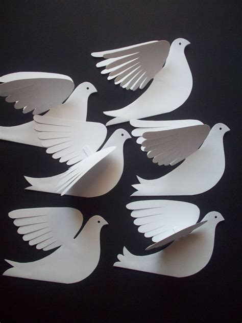How To Make Seagulls Out Of Paper - best 25 paper birds ideas on diy 3d decoupage