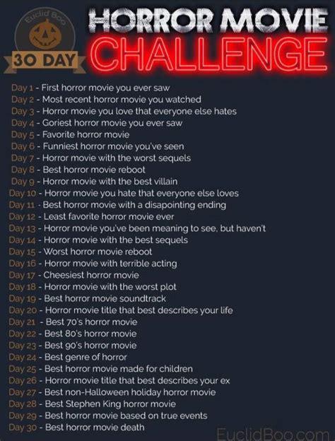 day horror  challenge horror amino