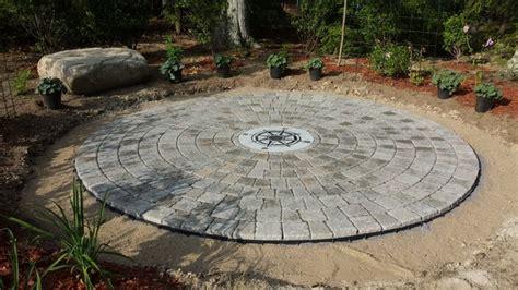 circular garden plans circular indian stone patio design circular patio with compass rose craftsman patio