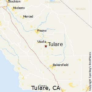 map of tulare county california best places to live in tulare california