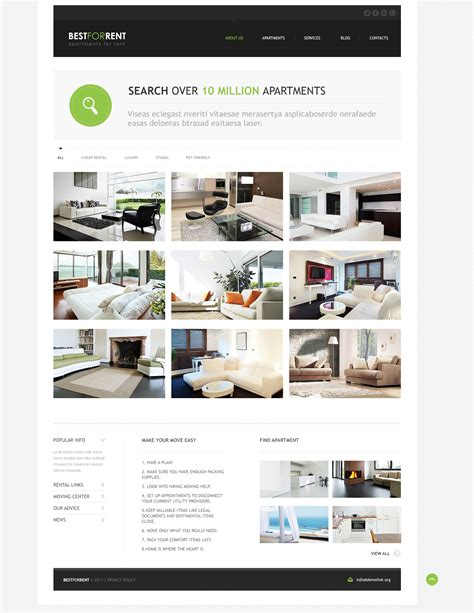 template themes apartments for rent joomla template 46371