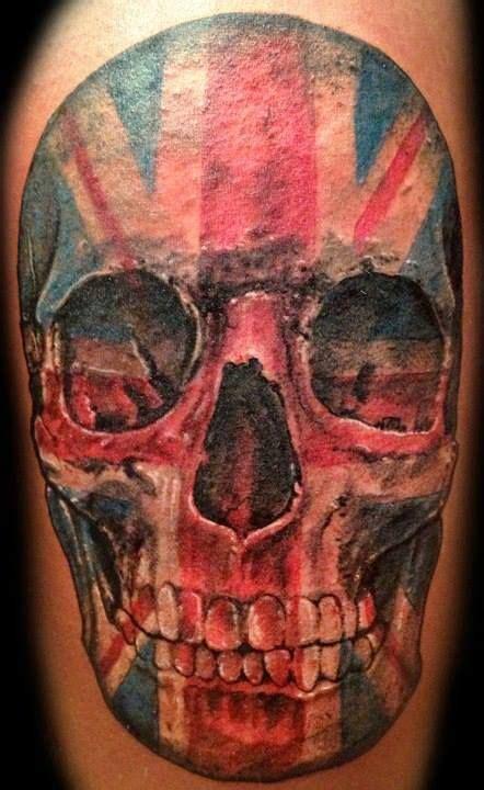 tattoo union union jack skull tattoo terry tattoo s pinterest