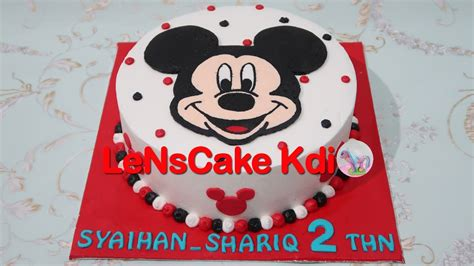 youtube membuat fondant mickey mouse birthday cake tutorial cara membuat kue