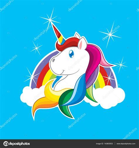 imagenes de unicornios y arcoiris vector de dibujos animados de unicornio y el arco iris