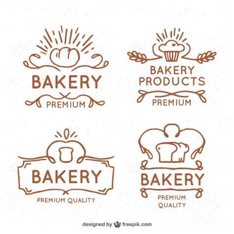 vintage bakery logos vector free