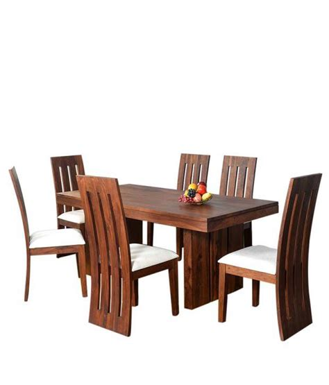 Ethnic India Madrid 6 Seater Sheesham Wood Dining Set With Table Buy Ethnic India Ethnic India Barcelona Sheesham Wood 6 Seater Dining Set Buy Ethnic India Barcelona