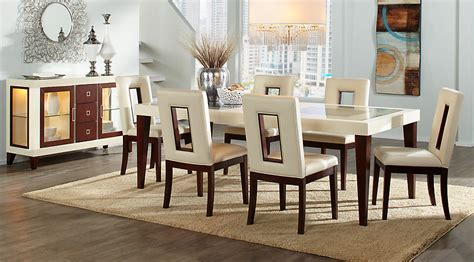 room to go dining sets sofia vergara savona ivory 5 pc rectangle dining room