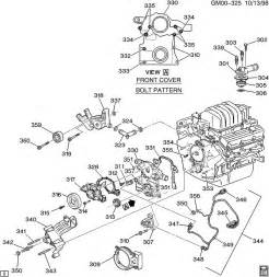 2003 pontiac grand prix coolant system diagram engine asm 3 8l v6 part 3 front cover and