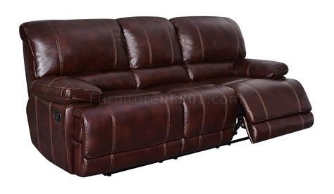 bonded leather reclining sofa u1953 reclining sofa in coffee bonded leather global
