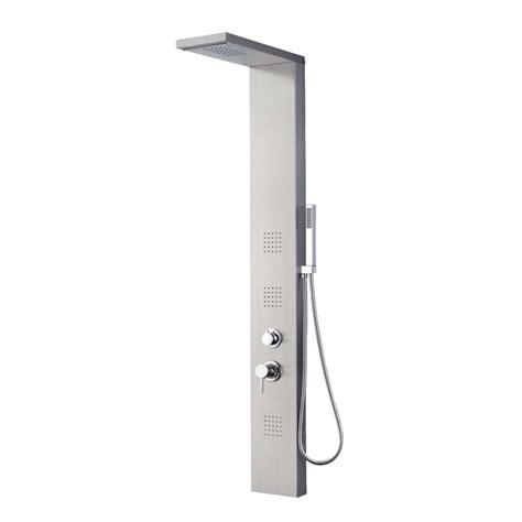 colonna doccia colonna doccia acciaio inox spazzolato aisi dimensioni cm