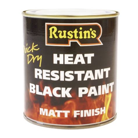 acrylic paint heat resistant rustins heat resistant black paint 500ml