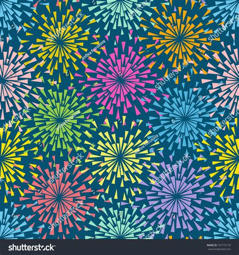 seamless pattern fireworks vector seamless pattern with stylized flowers or lights of