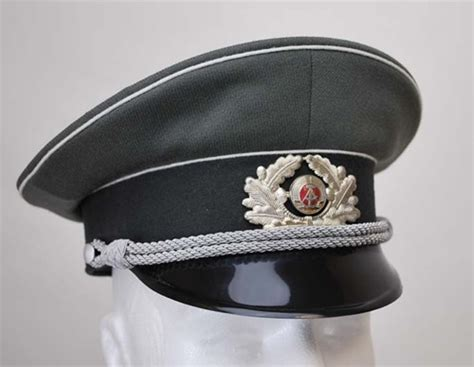 German Officer Hat by East German Army Officer Visor Hat Like New From Hessen