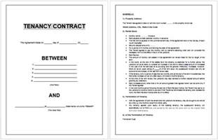 Difference Between Contract And Outline Agreement by Tenancy Agreement Form Template