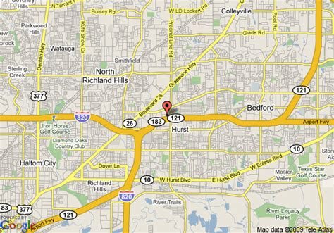 hurst texas map map of hyatt place fort worth hurst hurst