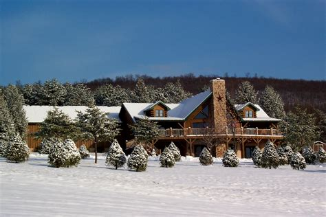 house snow country log home or corporate retreat