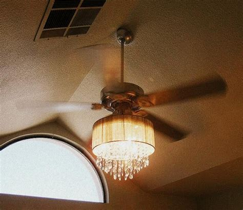 diy ceiling fan chandelier this combined a ceiling fan and chandelier