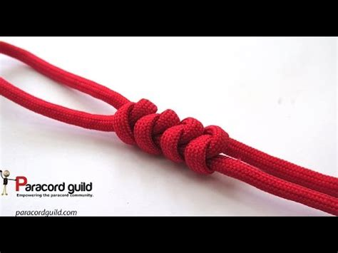 Two String Knots - 2 strand wall knot