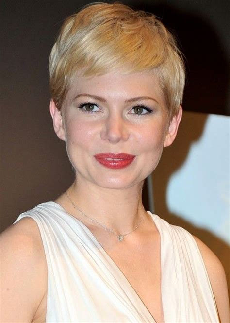 pixie haircut with feminine neck line love it when they pixie cut 2013 short haircut trends michelle williams