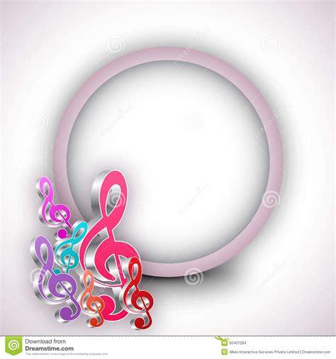 imagenes con notas sarcasticas notas musicales con el marco redondeado stock de