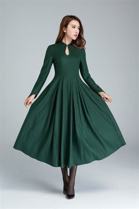 Dedigner Paety Dress Bangetttt Bun green wool dress dressprom dress dress maxi