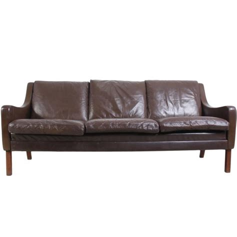 mid century leather couch mid century leather sofa circa 1960 at 1stdibs