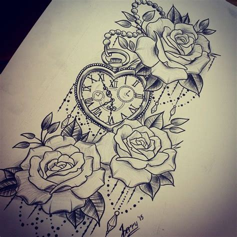 late night tattoo late sketch tattooidea rosetattoo watchtattoo