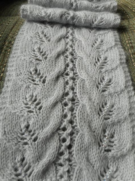 knit scarf pattern dk yarn pattern to knit lace and cable scarf ruth s journey dk yarn