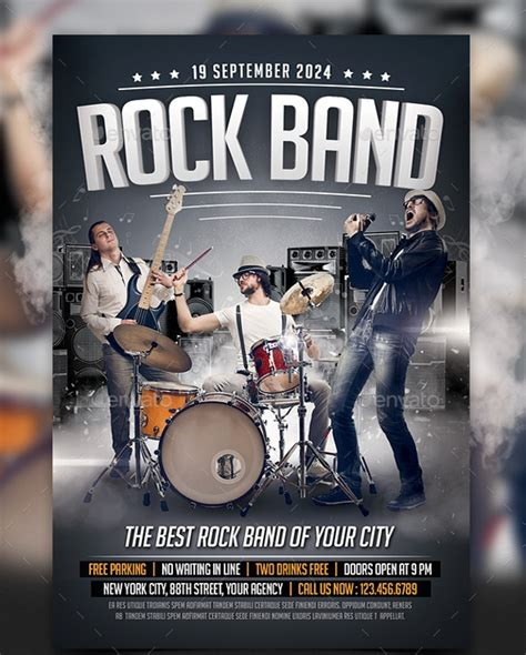 19 Band Flyer Templates Printable Psd Ai Vector Eps Format Download Design Trends Band Flyer Template