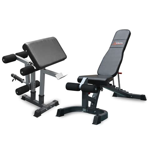 bench with leg curl dkn fid elite heavy duty utility bench with leg developer