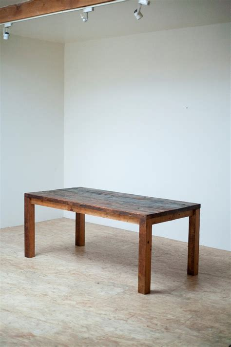 beautiful modern dining table reclaimed wood