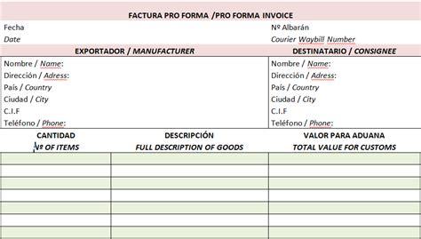 factura proforma o carta de oferta 191 qu 233 es una factura proforma el de asvencon