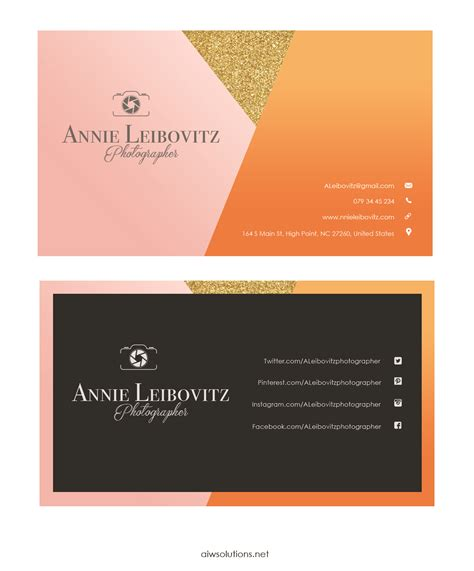 Photographer Business Card Template Illustrator by Premade Business Card Template Name Card Template
