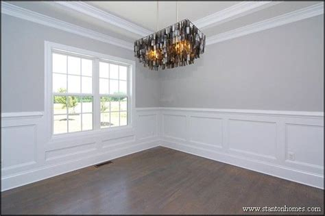 wainscoting dining room formal dining room with trey ceiling custom wainscoting site built hardwood flooring formal