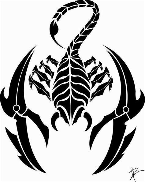 Diseño Tatuaje tribal signo Escorpion 14 - IMÁGENES del