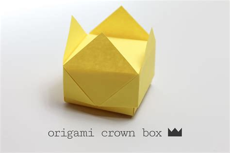 Simple Origami Box - easy origami crown box