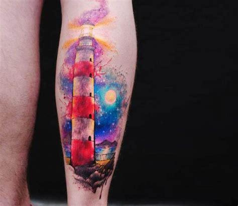 watercolor tattoo vs regular tattoo 1000 ideas about lighthouse tattoos on