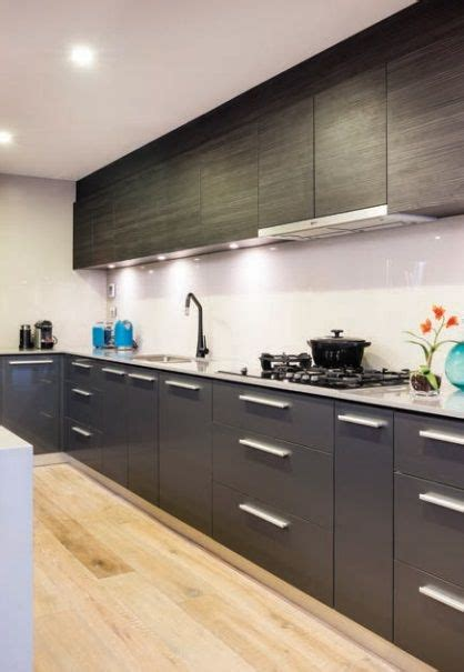 How To Clean Black Gloss Kitchen Doors by Albedor Gloss Gunmetal And Halencia Black Kitchen Cabinet