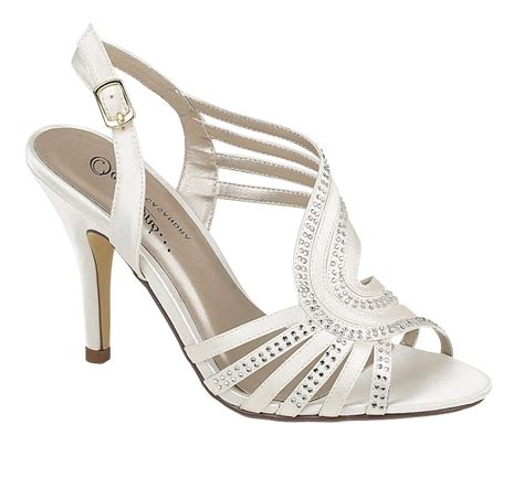 Strappy Ivory Bridal Shoes by Womens Strappy Ivory Satin Evening Sandals Wedding