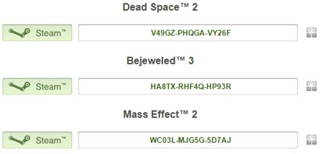 Steam Keys Giveaway - origin humble bundle keys steam keys dead space 2 bejeweled 3 mass effect 2