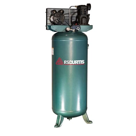 fs curtis 60 gal 3 hp electric 230 volt 1 phase air compressor fct03c47v6x a2x1xx the home depot