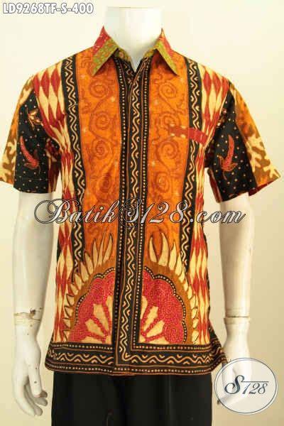desain baju batik pria elegan baju batik kerja elegan motif klasik sinaran proses tulis