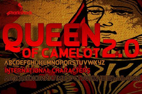 dafont queen queen of camelot font dafont com