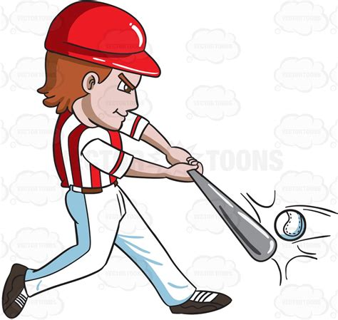 hitting a a baseball player hitting a with a bat clipart vector