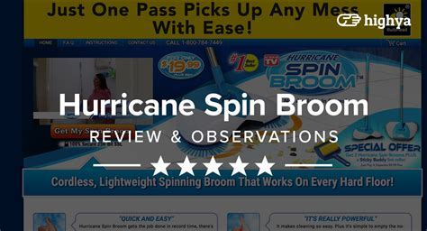 Hurricane Spin Broom Reviews   Is it a Scam or Legit?