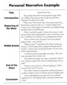 Personal Narrative Essay Middle School by Personal Narrative Essay Sle 5th Grade Writing Ideas Personal Narratives