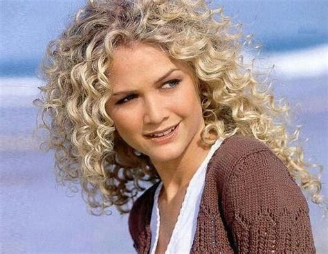 spiral perm medium hair medium length layered spiral perm curly hairstyles blonde