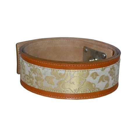 gold luxury leather belt real leather studio