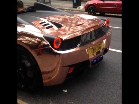 ferrari rose gold unignorable rose gold ferrari 458 spider with armytrix